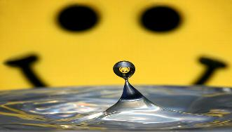 Smily mit Wassertropfensmily